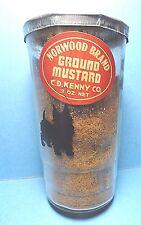 "Vintage ""NORWOOD GROUND MUSTARD GLASS JAR""  C D Kenny Co. Baltimore Maryland"