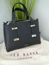 Ted Baker Jjesica Black Leather Bow Detail Tote Bag With Clutch Purse