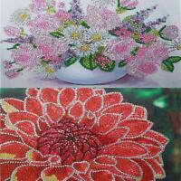 5D DIY Special Shaped Diamond Painting Flower Cross Stitch Mosaic Craft Kit h9