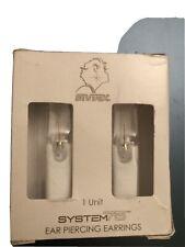 Studex System 75 Ear Piercing Earrings 14kt Gold 3MM CZ