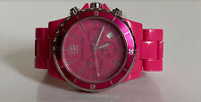 NEW! MICHAEL KORS MK PINK RESIN CHRONOGRAPH MID-SIZE WATCH MK5272 $195 SALE
