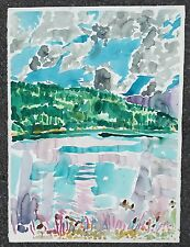 Canadian Artist Edward Epp Watercolor. Jack Of Clubs Lake B.C. Signed. 1981
