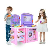 Kitchen Playset For Girls Boys Set Play Food Toddler Pretend Kids Toy Cooking pk