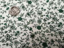New ListingBest Vintage Feedsack Quilt Fabric Dainty Flowers Foliage Green Sugar Flour Sack