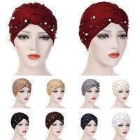 Muslim Women Hijab Turban Hat Chemo Hair Loss Cover Head Scarf Wrap Headwear Cap