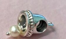 PANDORA | WEDDING BELL HANGING PEARL CHARM ✪NEW✪ 790517P AUTHENTIC RETIRED RARE