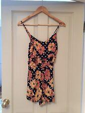 Topshop Polka Dot & Floral Summer Playsuit Size 10