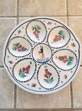 HB Quimper France Majolica Oyster Plate Mint Condition!! Dutch girl