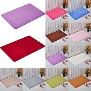 Non-slip Absorbent Memory Foam Bathroom Rug Bed Floor Shower Carpet J6V9