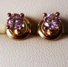 Orecchini con diamanti naturale in oro giallo 18 carati