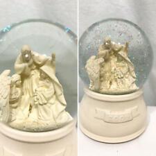 Christmas 2009 Snow Globe Off White Manger Scene Glitter Music Box Silent Night
