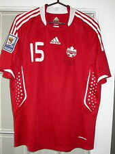 Bernier 2010 Fifa World Cup Qualifier Canada Game Used Soccer Jersey Auto, Mls