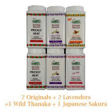 Prickly Heat Powder Snake Brand Cooling Body Refreshing Traveling Size 6x50g Set