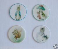 12 PRE CUT PETER RABBIT  EDIBLE RICE WAFER PAPER CARD PARTY CUPCAKE TOPPERS