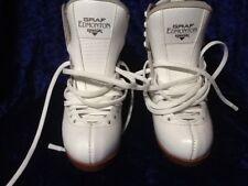 New Girl's Graf Edmonton Special skating boots White Size 2.5 M Skates