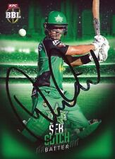✺Signed✺ 2017 2018 MELBOURNE STARS Cricket Card SEB GOTCH Big Bash League