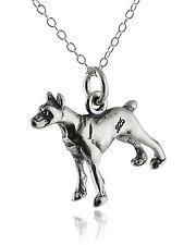 Doberman Pinscher Dog Necklace - 925 Sterling Silver - 3D Charm Pet Dogs New