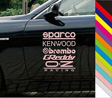 Creative Sparco Kenwood Obrembo Car Window JDM Novelty Vinyl Decal Sticker Hot!!