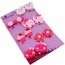 Cute Candy Cloud Flower Cupcake Elephant Clip On Earrings Gift Set for Kid Girls