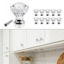 1/10Pcs Diamond Crystal Door Dresser Knobs Drawer/Furniture Pull Handle Cabinet
