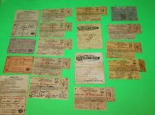 VINTAGE OHIO 1930's & 1940's RESIDENT FISHING LICENSE LOT OF 17 - #33