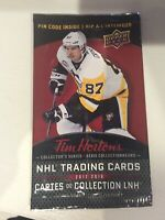 2017-18 Tim Hortons Upper Deck Unopened Packs - Crosby Auto,insert in every pack