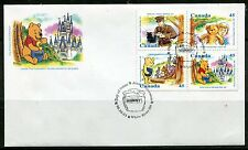 CANADA 1996  WINNIE THE POOH - BEARS  COMPLETE SET ON A FIRST DAY COVER!