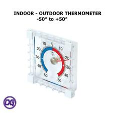 New INDOOR OUTDOOR STICK ON THERMOMETER Window Wall Garden Greenhouse Home Room✔