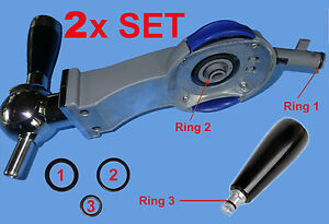 2 SETs: 6 O-Ringe Dichtungen Philips Perfect Draft Zapfanlage HD3600 3610 3620