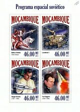 Russian Space Programme (Gagarin/Korolev/Dogs) Stamp Sheet (2013 Mozambique)