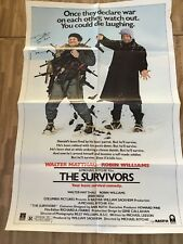 """SURVIVORS"" MOVIE POSTER SIGNED BY STAR ""ROBIN WILLIAMS (DIED 2014)"
