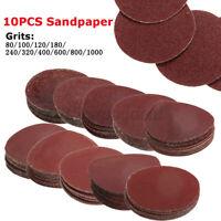 10pcs 5.1cm Schleif Disks 80/100/120/ 180/240/320/ 400/600/800/1000 / Grit