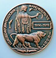 WW1 DEATH PLAQUE / DEAD MANS PENNY BRITISH MADE REMEMBRANCE BADGE