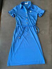 Vintage Lanvin Sky Blue Half Button Down Polo Dress 12