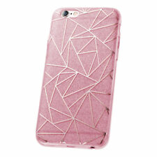 ^ Fashion Glitter Geometric Tasche Cover Schutzhülle Schale LG K10 2017 Pink