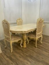 New ListingSilik Italian Style Dining Room Table And Chairs With Organizer