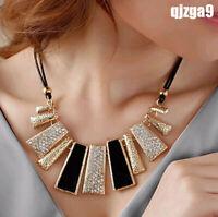 New Fashion Women Pendant Chain Crystal Choker Chunky bib Necklace Jewelry