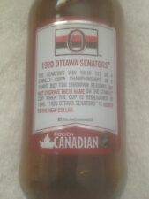 OTTAWA SENATORS Molson Canadian NHL Stanley Cup beer bottle * USA DISTRIBUTED