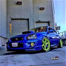 "RPG STi Large 4"" Blue Hood Scoop Upgrade for 04-05 Subaru Impreza WRX STi GDB"