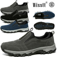 Men's Slip On Sports Outdoor Sneakers Running Walking Hiking Shoes Trainers Flat