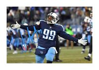 Jurrell Casey (3) NFL Tennessee Titans photograph poster. Choice of frame.