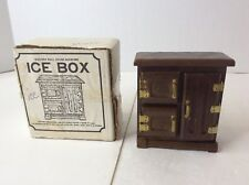 Chadwick Miller Wooden Doll House Miniature Ice Box With Cube Kitchen Furniture
