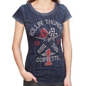 Chevrolet Corvette Rollin' Thunder Ladies T-Shirt