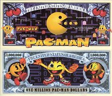 PACMAN Video Game Series Million Dollar Novelty Money