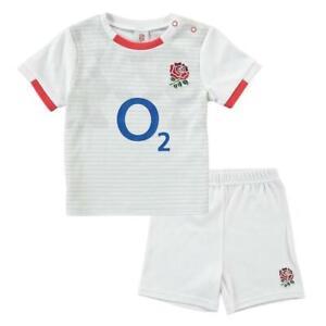 England RFU Rugby Baby/Toddler T-Shirt & Shorts Set | White | 2020/21