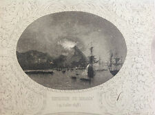 Málaga,  Gibraltar, batallas navales. Chavane., 1845.