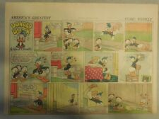 Donald Duck Sunday Page by Walt Disney from 8/23/1942 Half Page Size