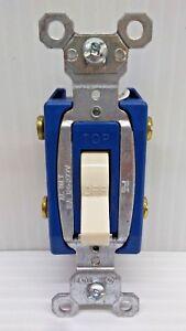 LOT OF 6 Pass Seymour 15A Toggle 2 Pole BLUE LIGHT ALMOND CSB15AC2-LA FREE SHIP