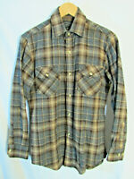 Oshman's Sportswear Men's Plaid Wool Blend Long Sleeve Button Shirt Size S