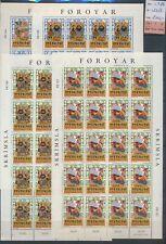 Xc74944 Faroe Islands 1986 folktales sheets Xxl Mnh cv 200 Eur